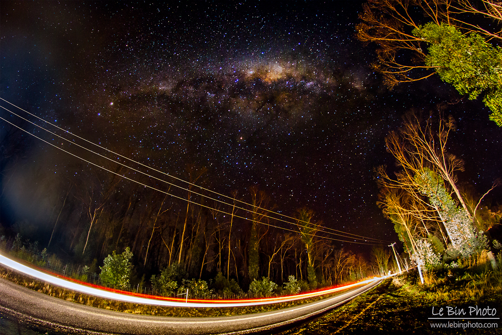 Milky Way Photograph in Tasmania Australia by Lebin photo