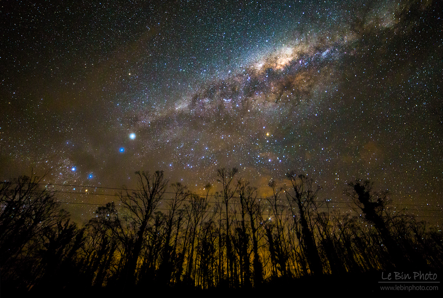 Milky way photograph by lebin from tasmania hobart